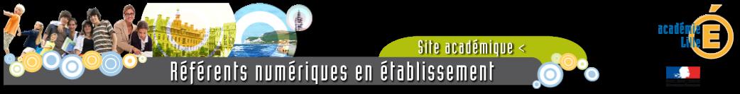 site des référents numériques de l'Académie de Lille